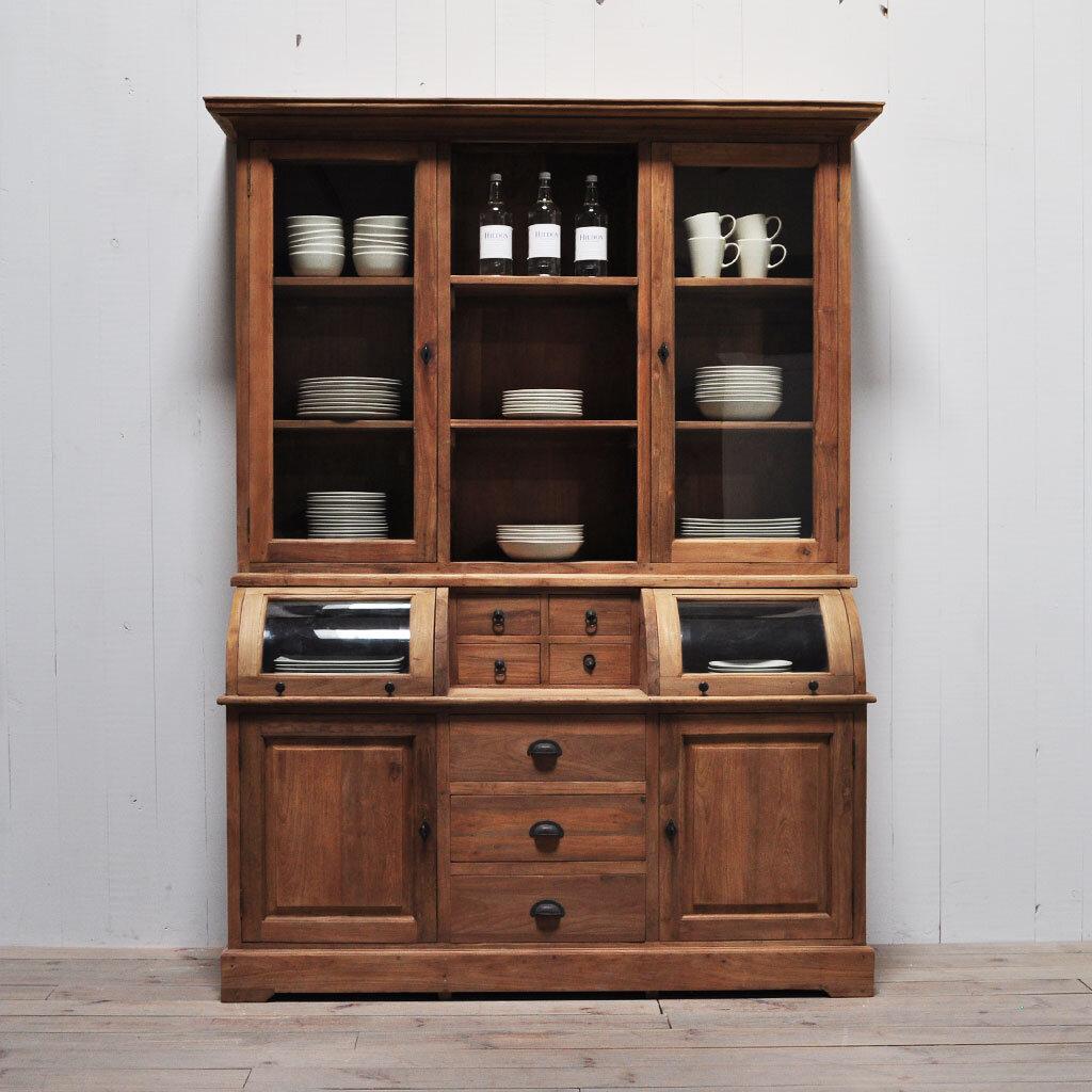 teak vitrine schrank colline restyle24. Black Bedroom Furniture Sets. Home Design Ideas