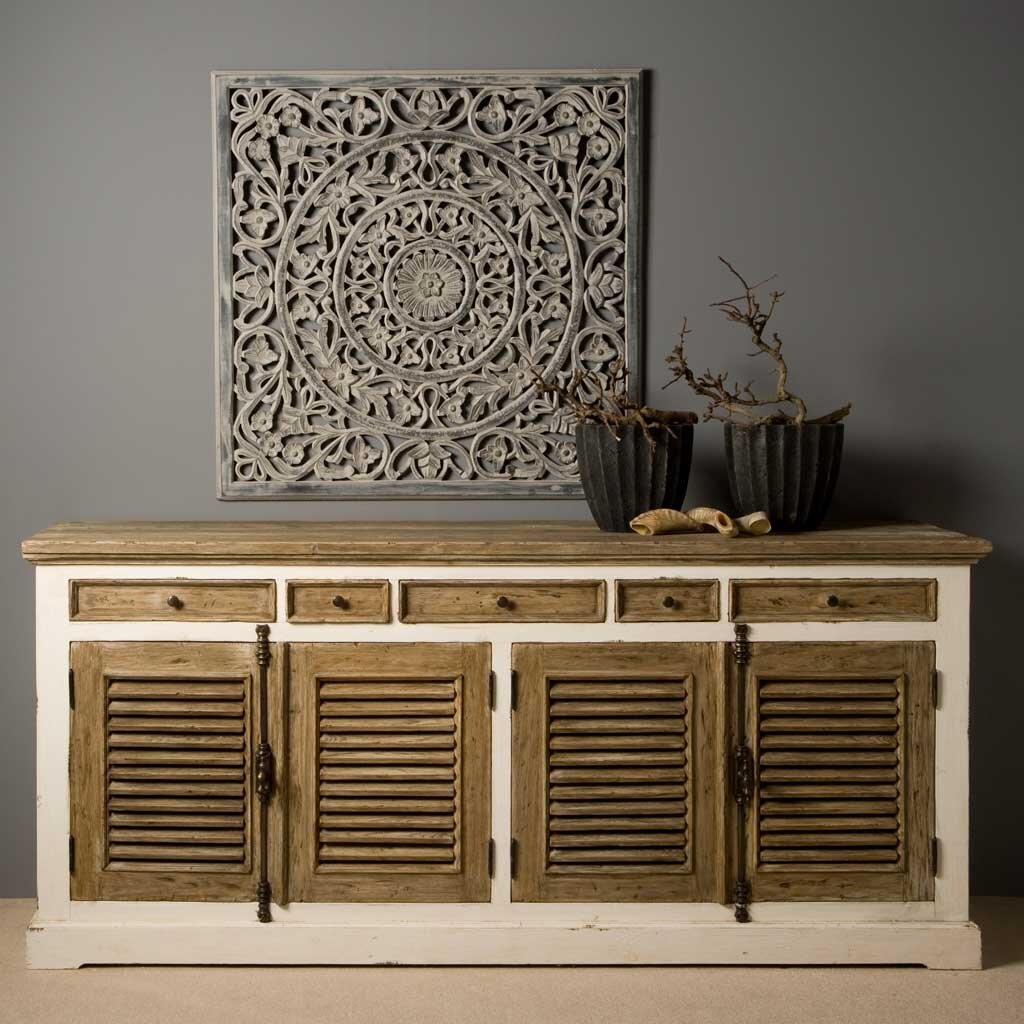 Highboard 200 Cm. China Wide Sideboard Chest Cm Dirt Light Blue ...