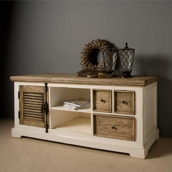 tv board armando shabby chic 150 cm restyle24. Black Bedroom Furniture Sets. Home Design Ideas