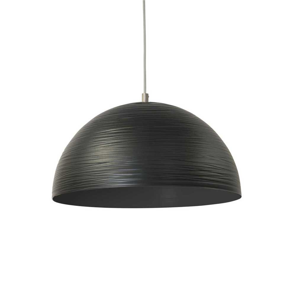 H nge metalllampe casco 30 cm durchmesser schwarz restyle24 for Beistelltisch 30 cm durchmesser