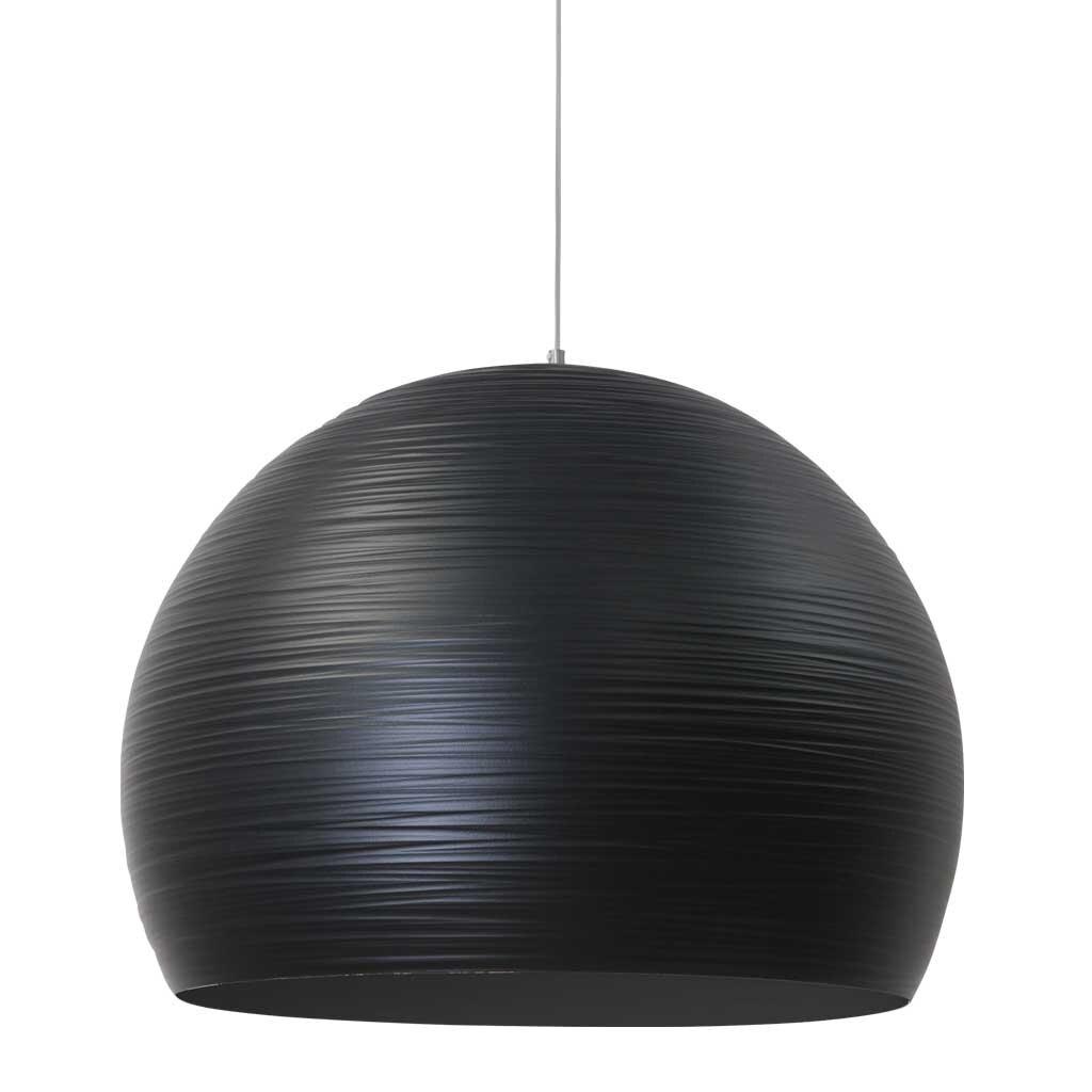 metallh ngeleuchte globo schirm durchmesser 50 cm schwarz restyle24. Black Bedroom Furniture Sets. Home Design Ideas