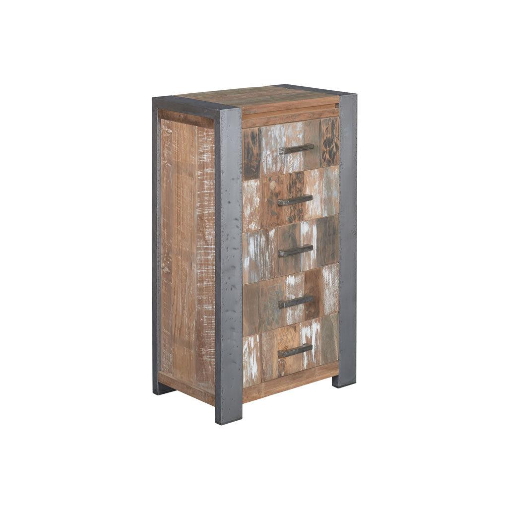 kommode novaras mit 5 schubladen restyle24. Black Bedroom Furniture Sets. Home Design Ideas