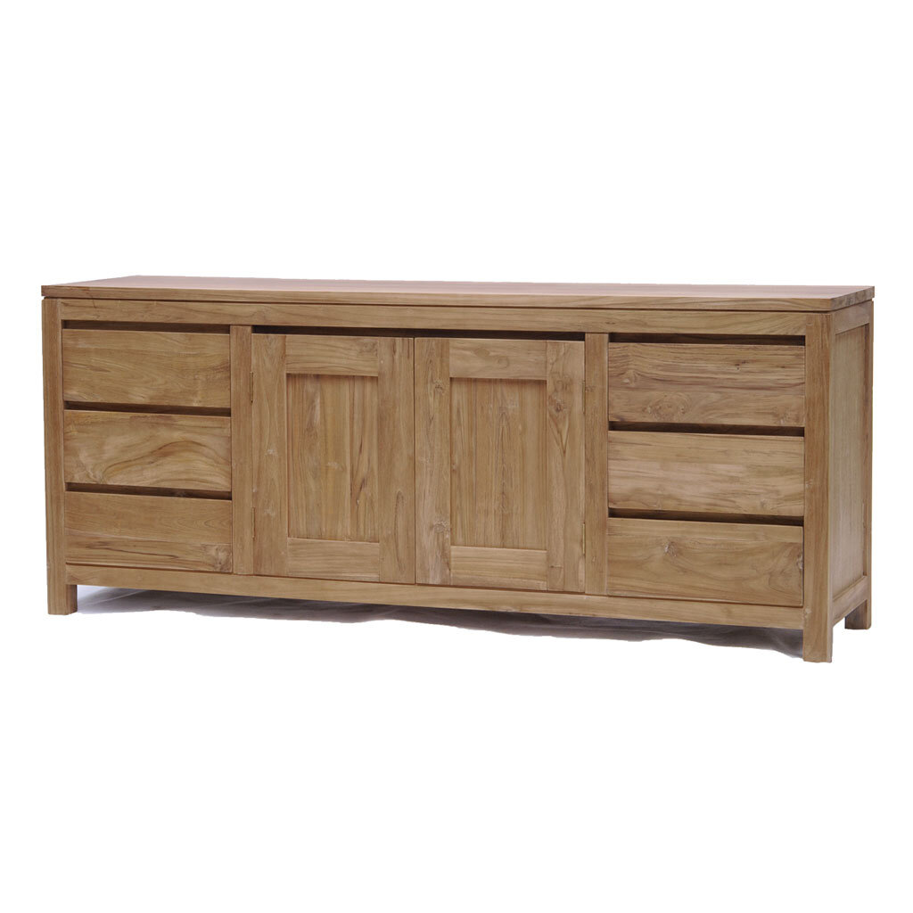 sideboard coronas aus teak 180 cm restyle24. Black Bedroom Furniture Sets. Home Design Ideas