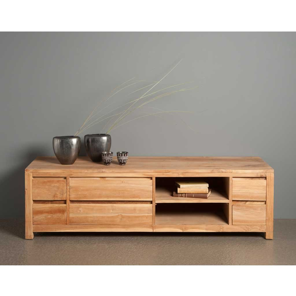 coronas tv sideboard aus teakholz 170 cm restyle24. Black Bedroom Furniture Sets. Home Design Ideas