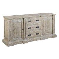 Sideboard Monzas recyceltes Holz 4 Schubladen