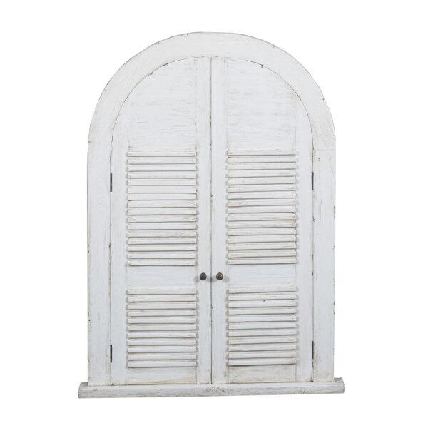 Landhaus Wandspiegel Monzas mit Türen weiß