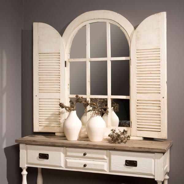 landhaus wandspiegel monzas mit t ren wei restyle24. Black Bedroom Furniture Sets. Home Design Ideas