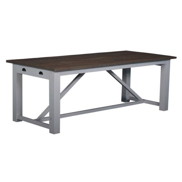 Tisch weiß / Teak Napolia