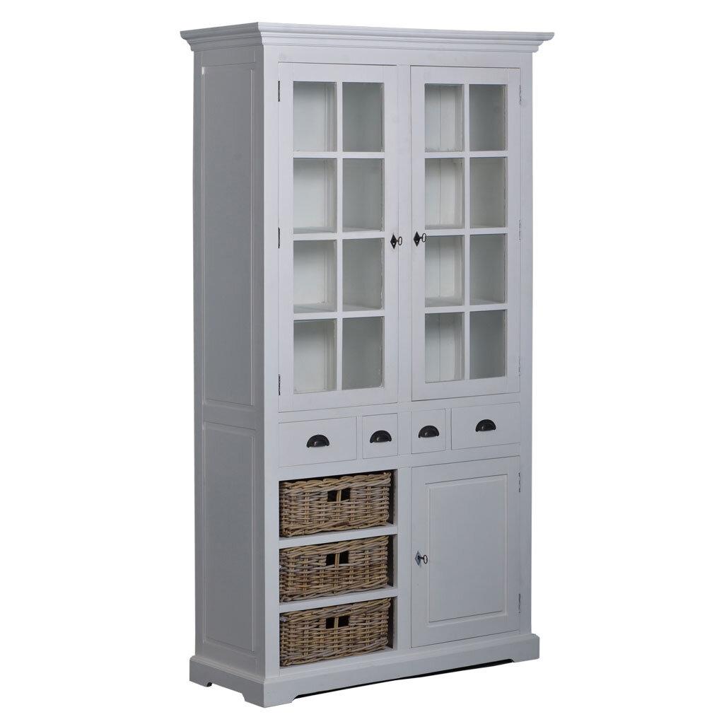 vitrinenschrank wei napolia 110 cm restyle24. Black Bedroom Furniture Sets. Home Design Ideas