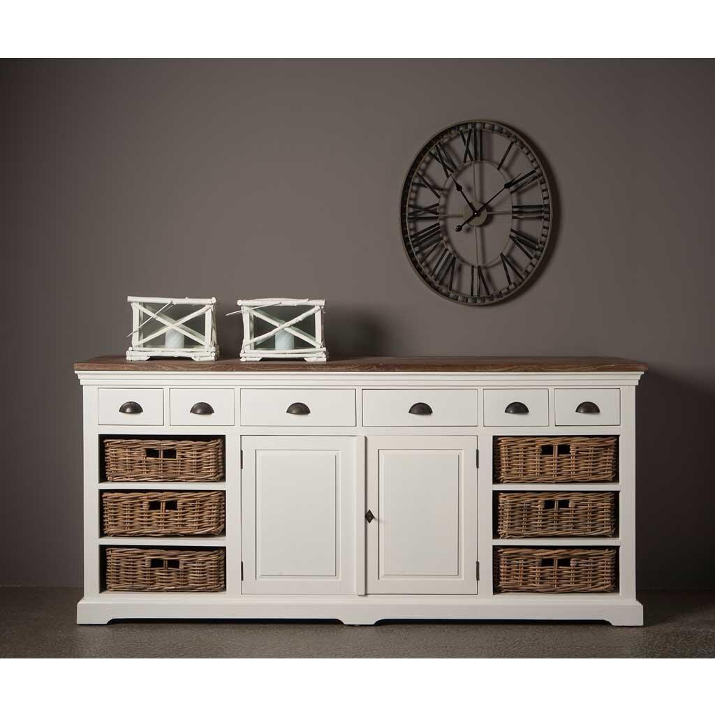 sideboard wei teak napolia 195 cm restyle24. Black Bedroom Furniture Sets. Home Design Ideas
