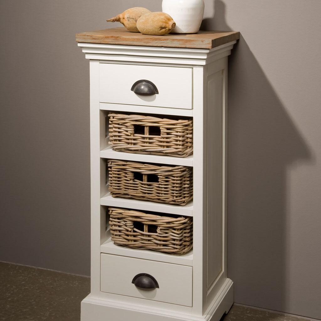 beistellschrank wei teak napolia 3 k rbe restyle24. Black Bedroom Furniture Sets. Home Design Ideas