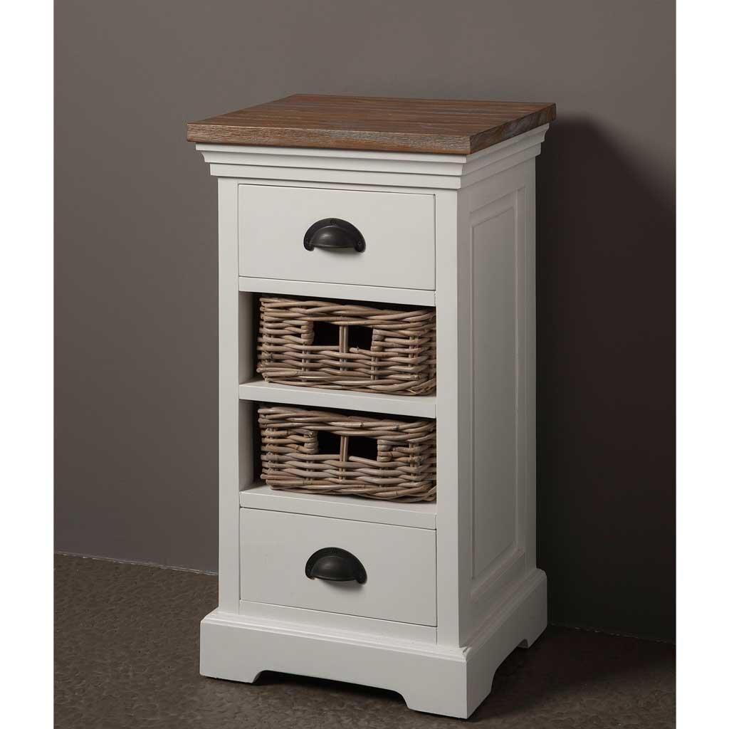 beistellschrank wei teak napolia 2 k rbe restyle24. Black Bedroom Furniture Sets. Home Design Ideas