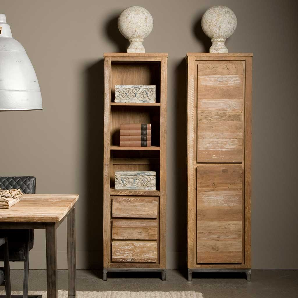 teakholz schrank venedig massivholz design restyle24. Black Bedroom Furniture Sets. Home Design Ideas