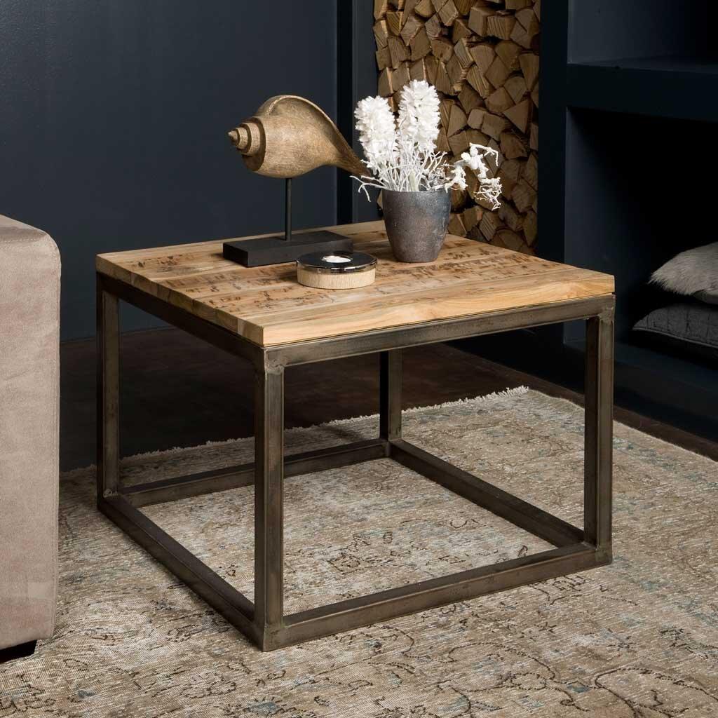 moderner couchtisch venedig massivholz teak 60 x 60 cm restyle24. Black Bedroom Furniture Sets. Home Design Ideas