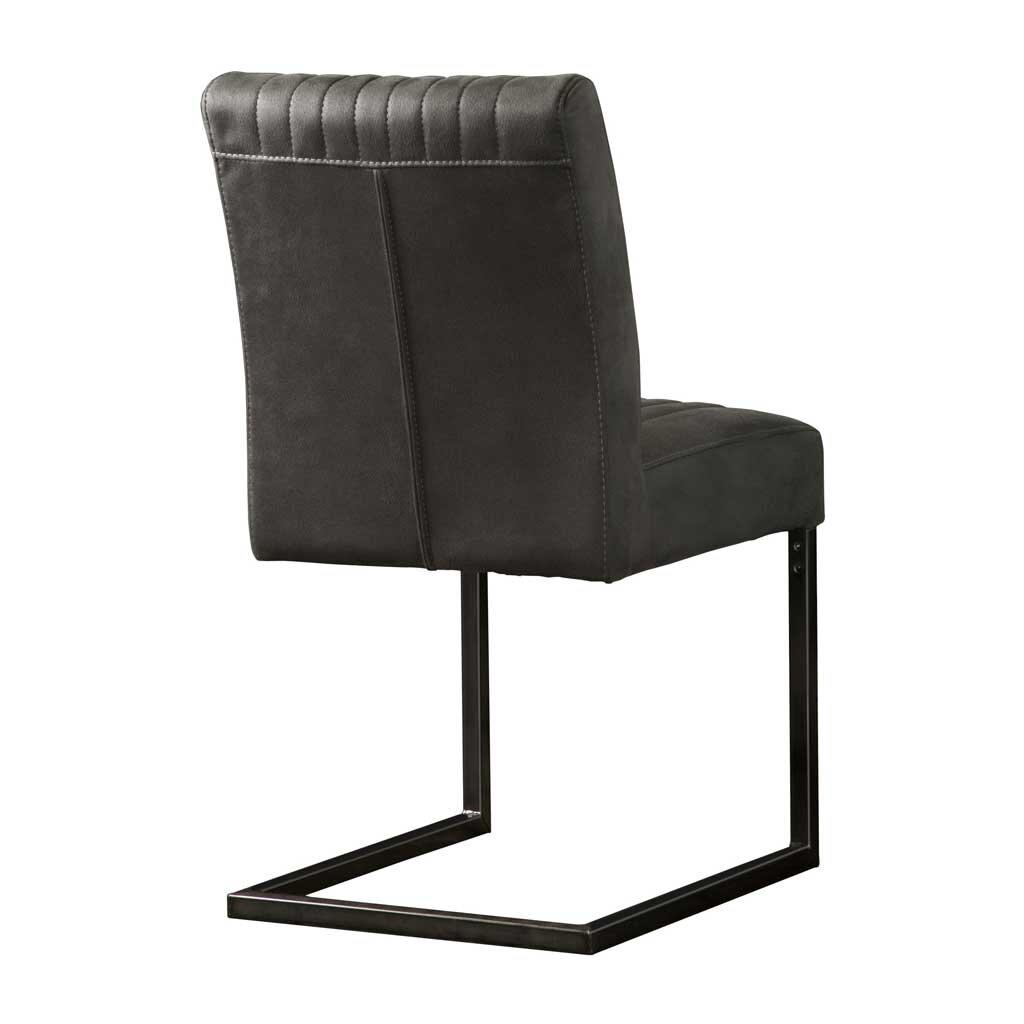 freischwinger ferro gestell schwarz anthrazit stoff. Black Bedroom Furniture Sets. Home Design Ideas
