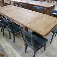 Teaktisch Woody mit Ansteckplatten 180/280