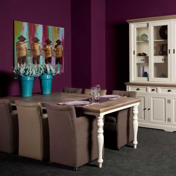 esstisch fleuros landhausm bel restyle24. Black Bedroom Furniture Sets. Home Design Ideas