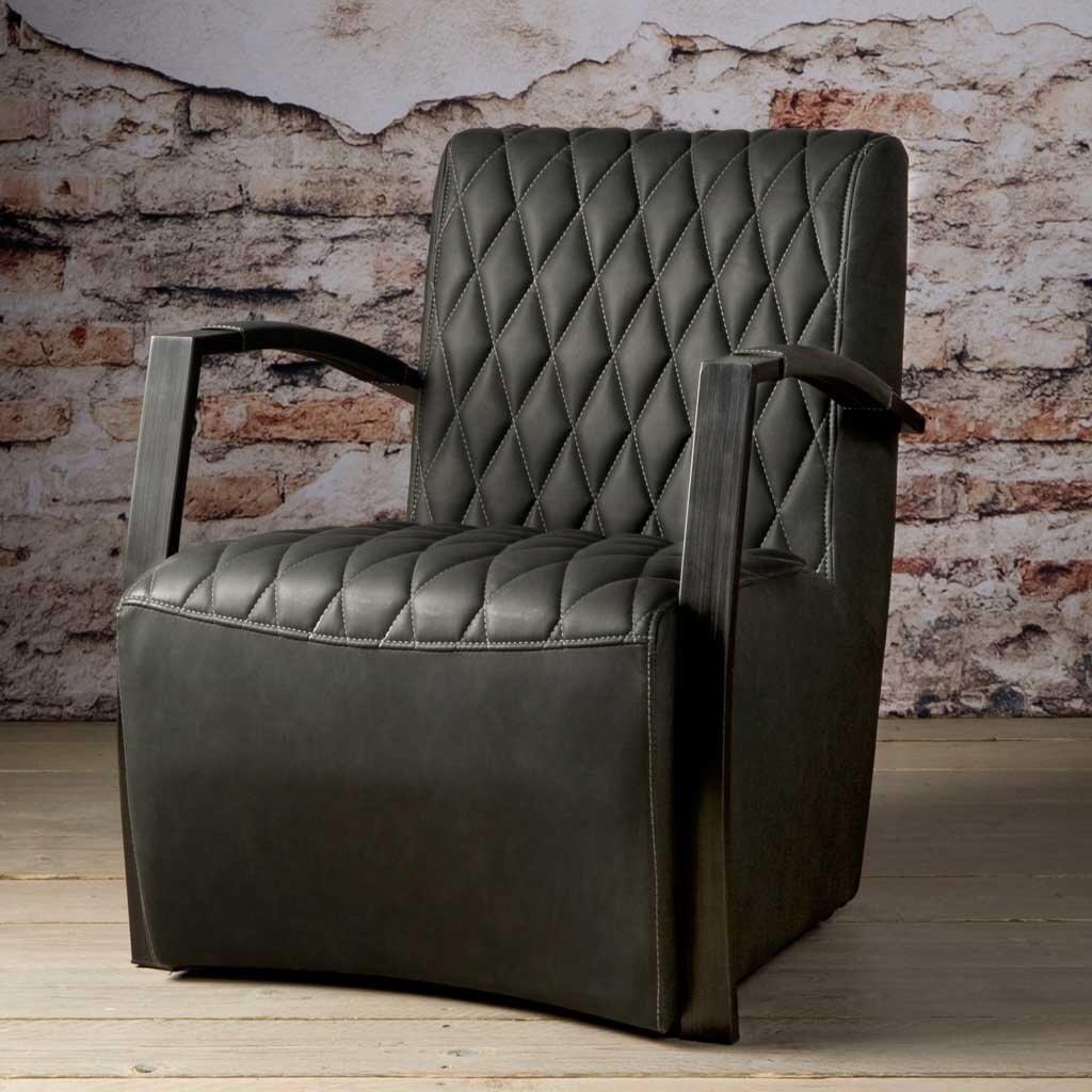 sessel leon mit armlehne vintage anthrazit restyle24. Black Bedroom Furniture Sets. Home Design Ideas