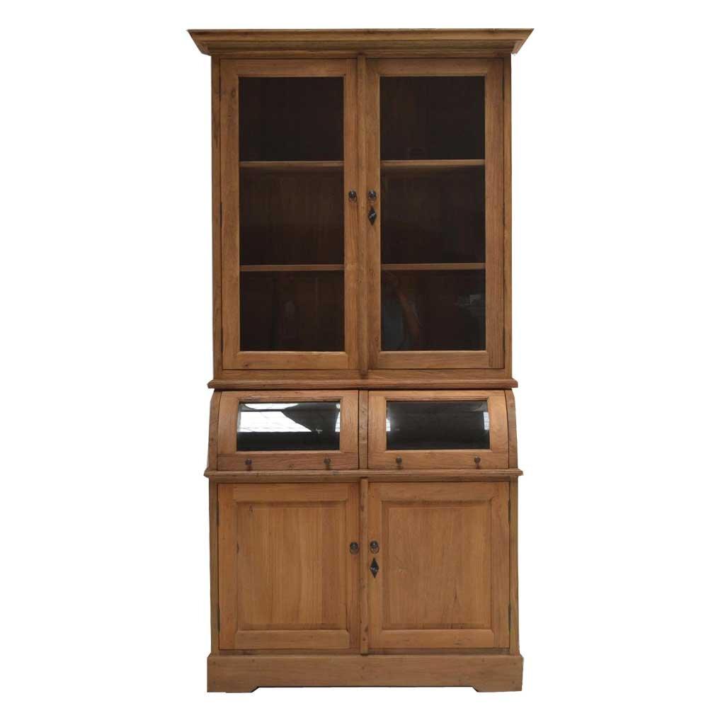 Teak vitrine schrank colline i kasar restyle24 for Schrank vitrine