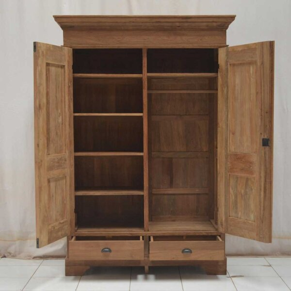 kleiderschrank teak deddy restyle24. Black Bedroom Furniture Sets. Home Design Ideas