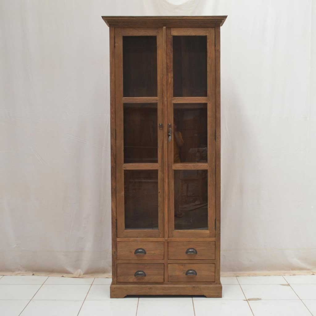 vitrine teak teresa dingklik restyle24. Black Bedroom Furniture Sets. Home Design Ideas