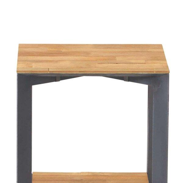 teak beistelltisch pandora mit metallgestell restyle24. Black Bedroom Furniture Sets. Home Design Ideas
