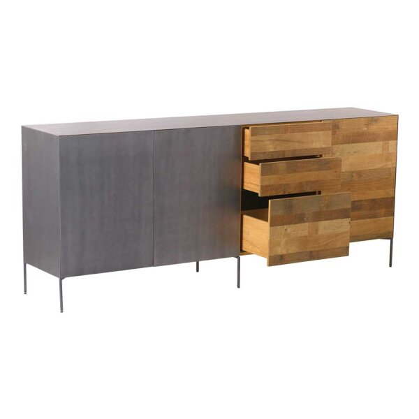 teak sideboard pandora 220 cm restyle24. Black Bedroom Furniture Sets. Home Design Ideas