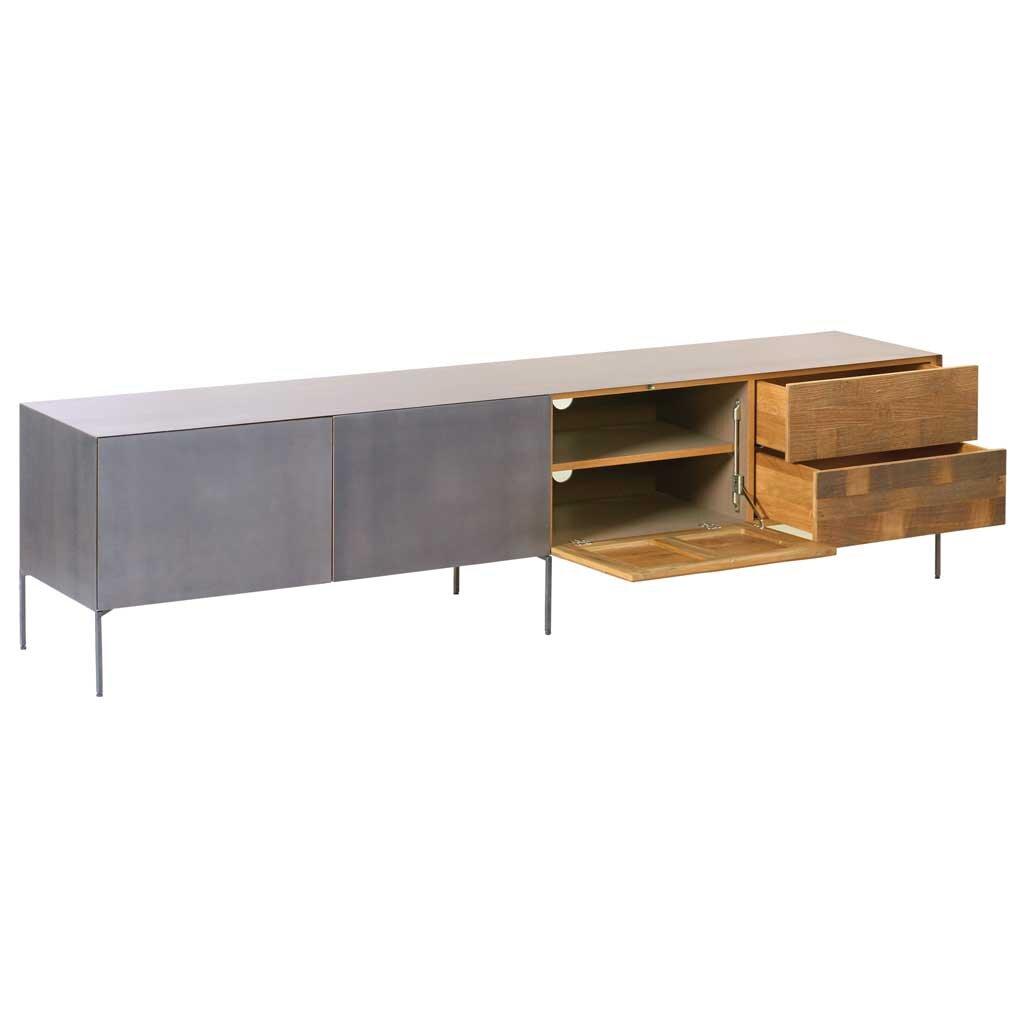 teak lowboard pandora 220 cm restyle24. Black Bedroom Furniture Sets. Home Design Ideas