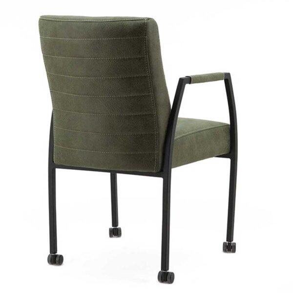 stuhl fiona mit armlehne und rollen. Black Bedroom Furniture Sets. Home Design Ideas