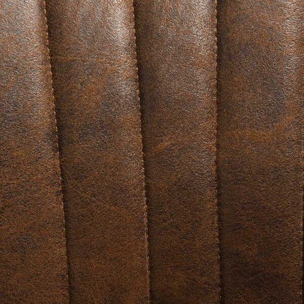 Gestell Braun - Stoff Dunkelbraun